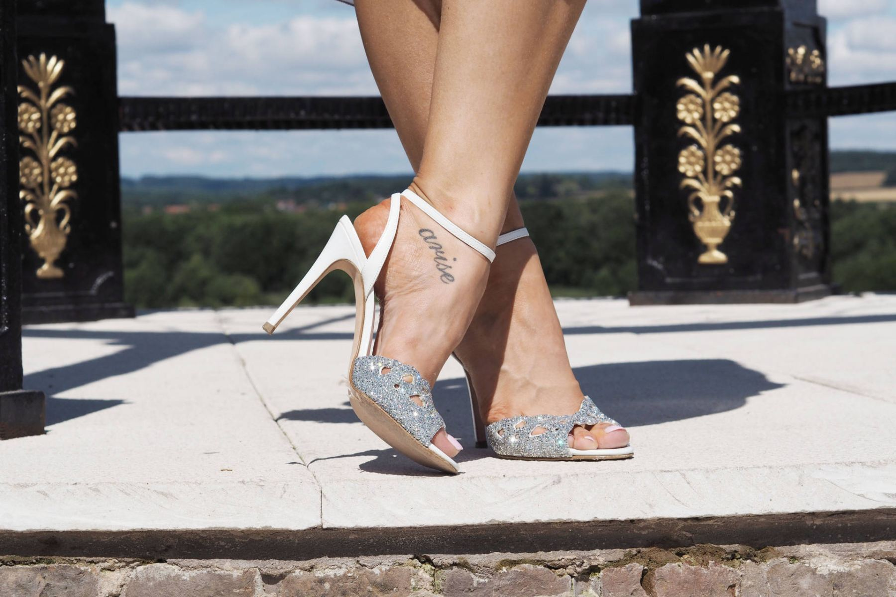 gina shoes with crystals