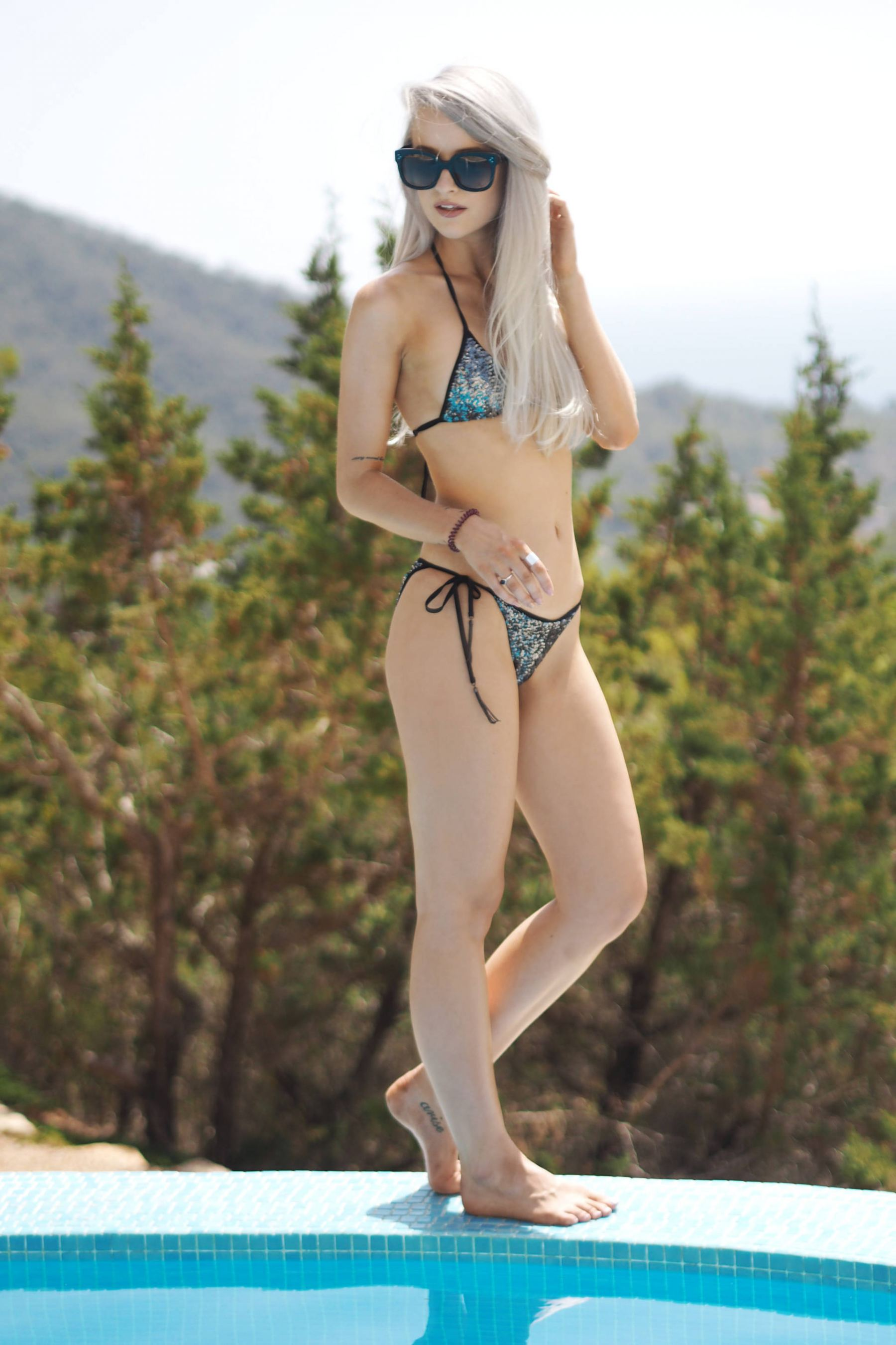 agent provocateur sequin bikini