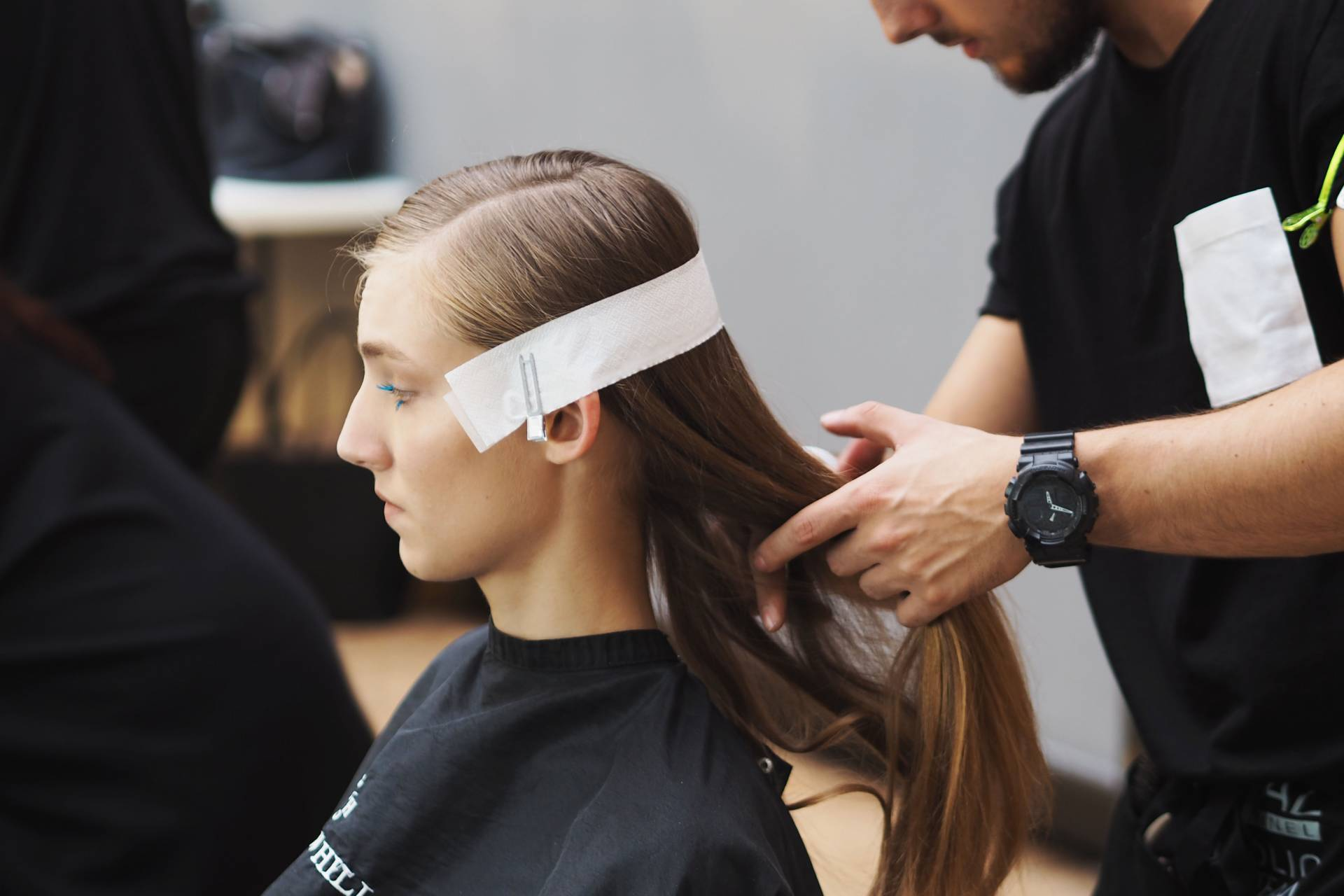 mary katrantzou backstage hair