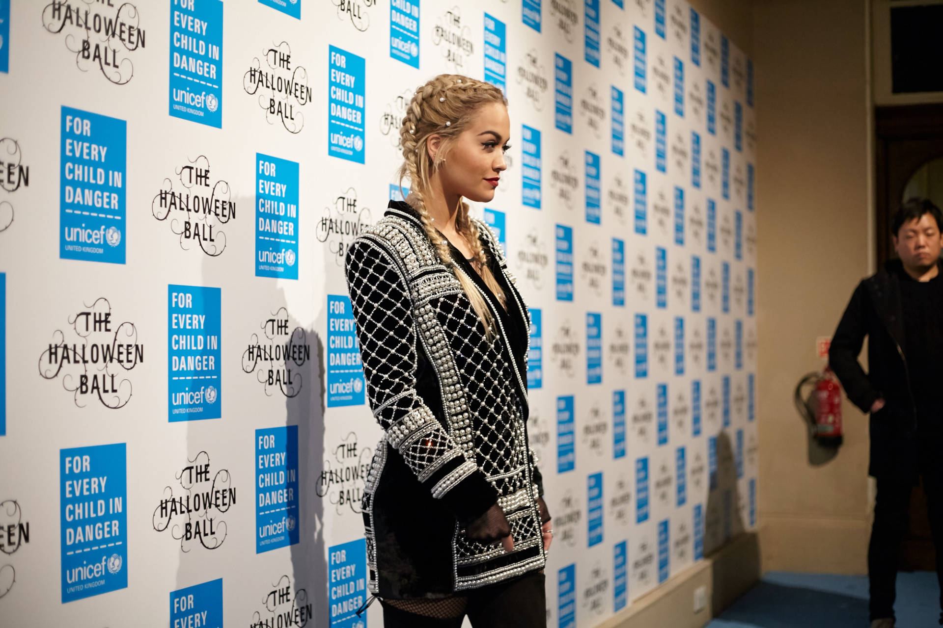 rita ora at unicef halloween ball