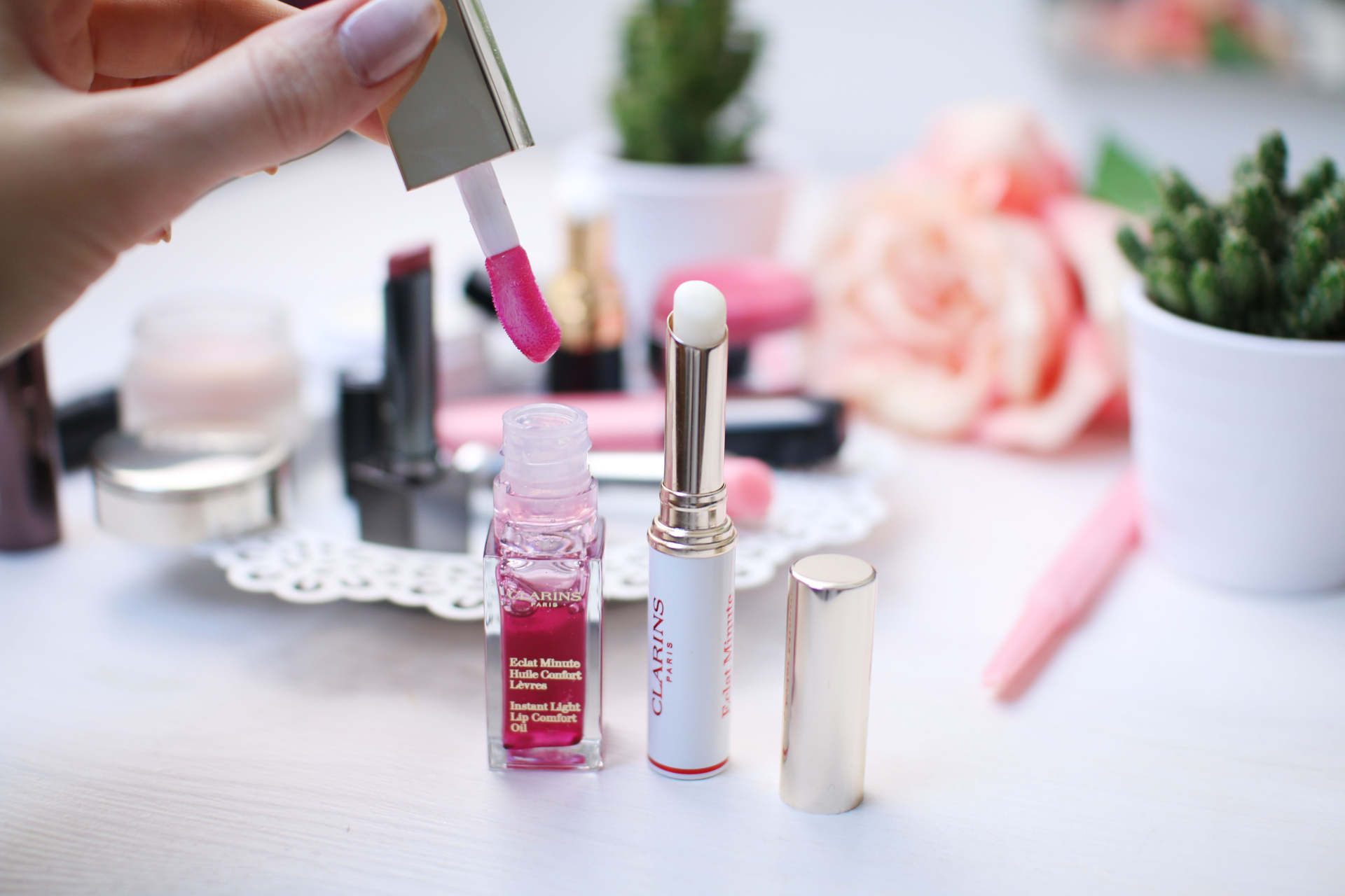 clarins luxury lip balm comparison inthefrow