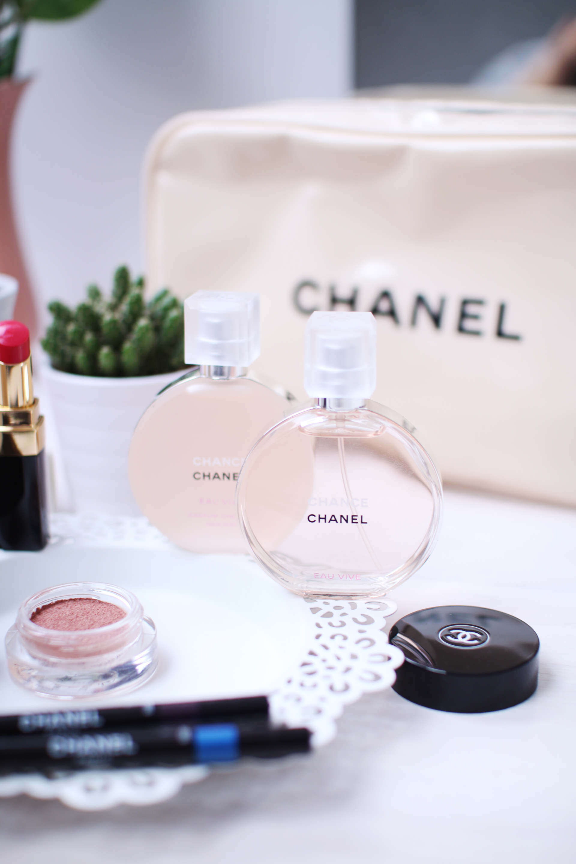 chanel hair mist and chancel chance