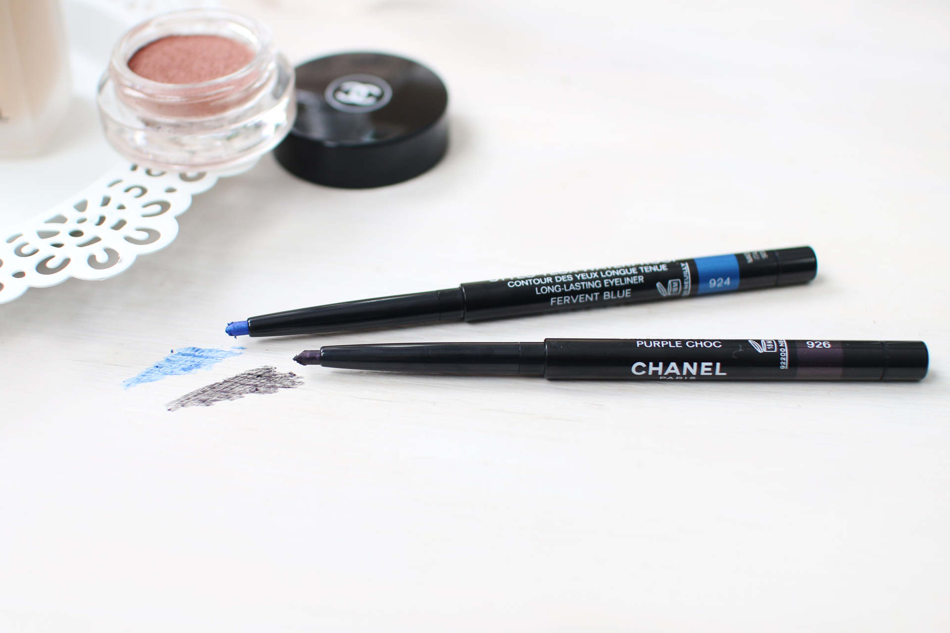 chanel spring eyeliners blue and purple