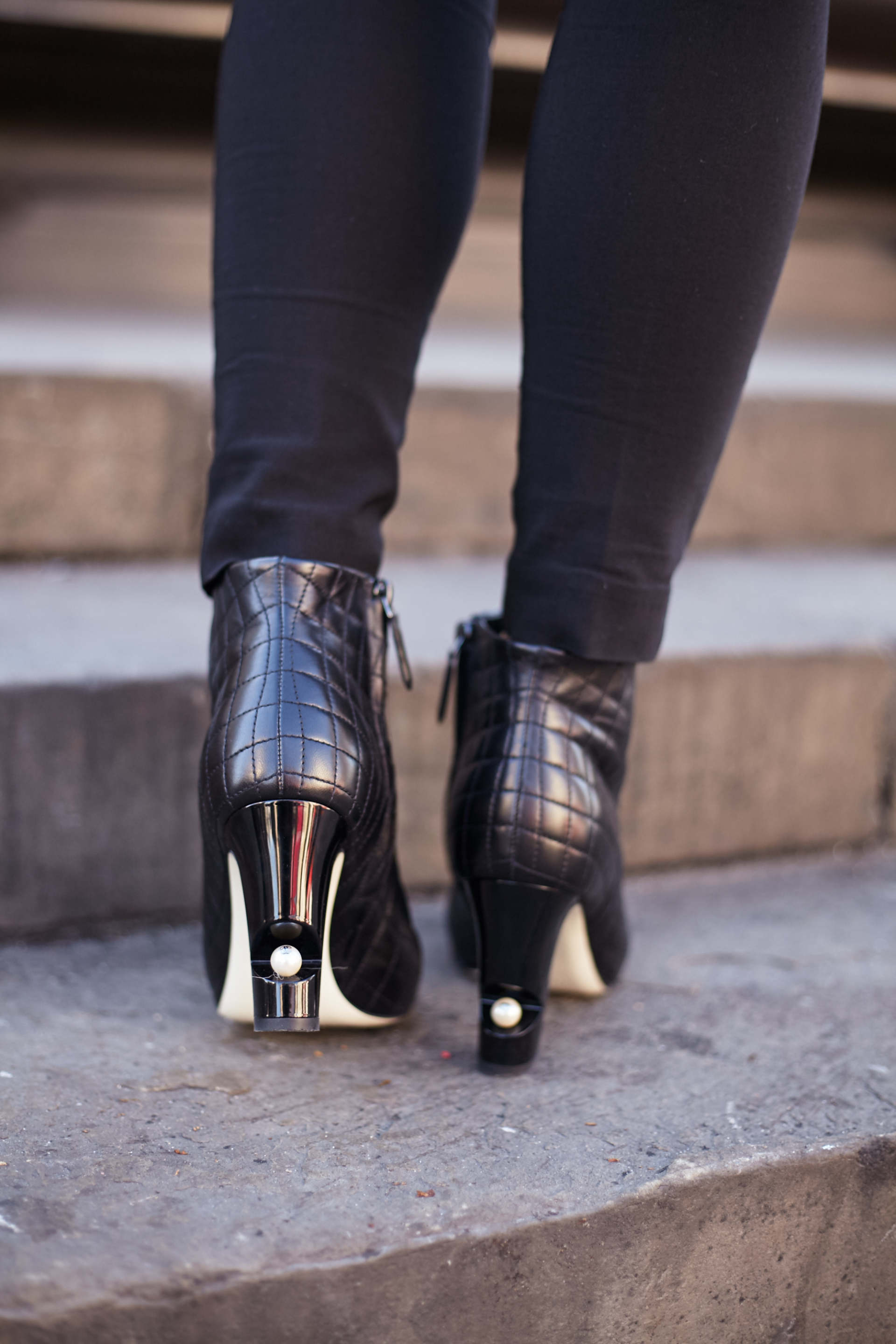 chanel peep toe boots inthefrow