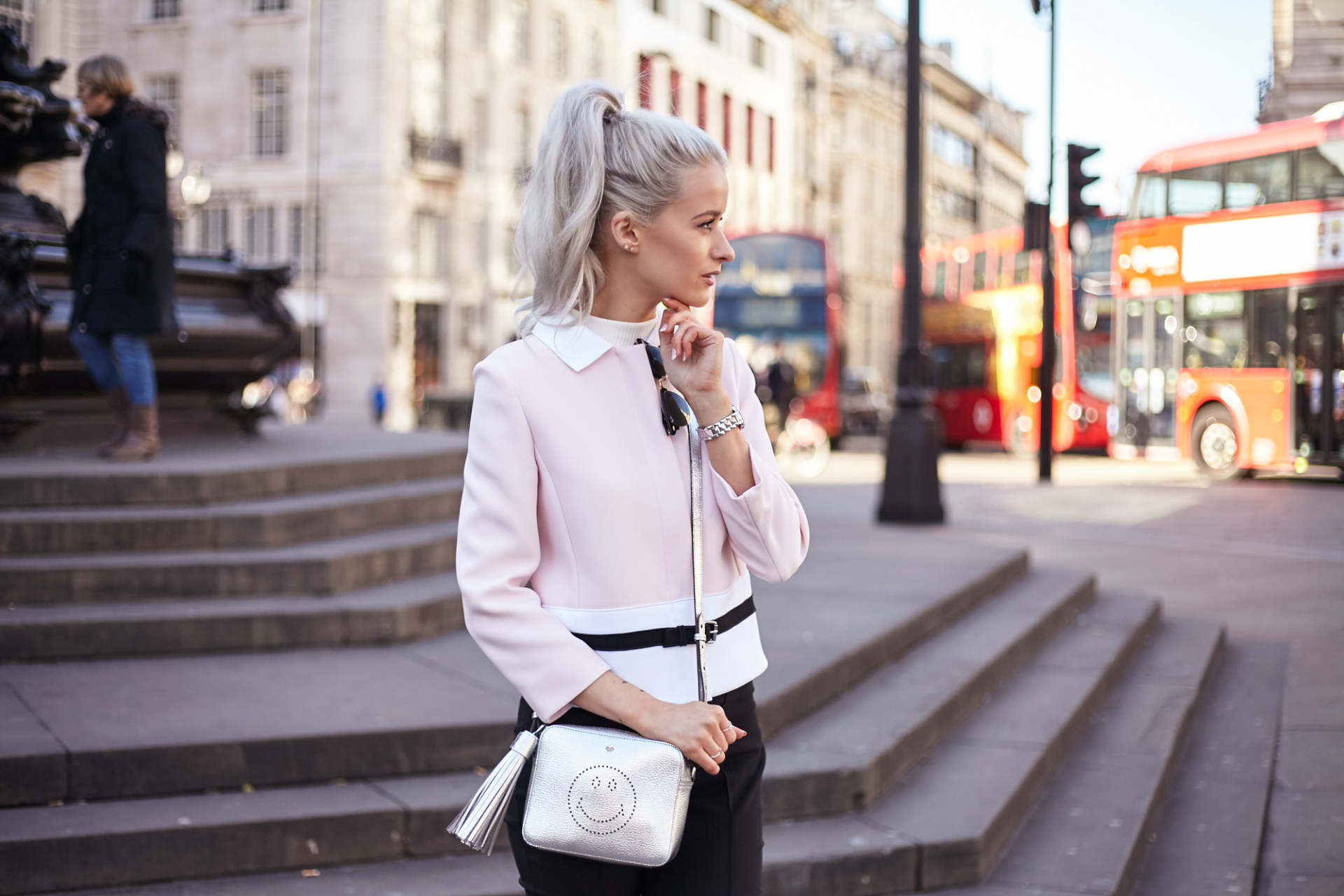 7549664b409 london fashion week outfit inthefrow longchamp pink jacket