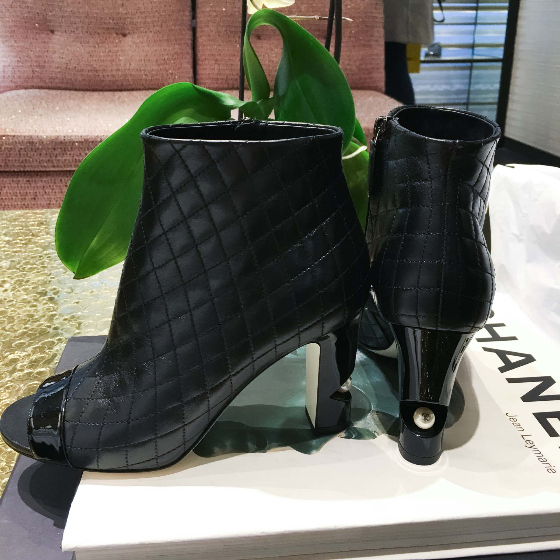 chanel boots inthefrow