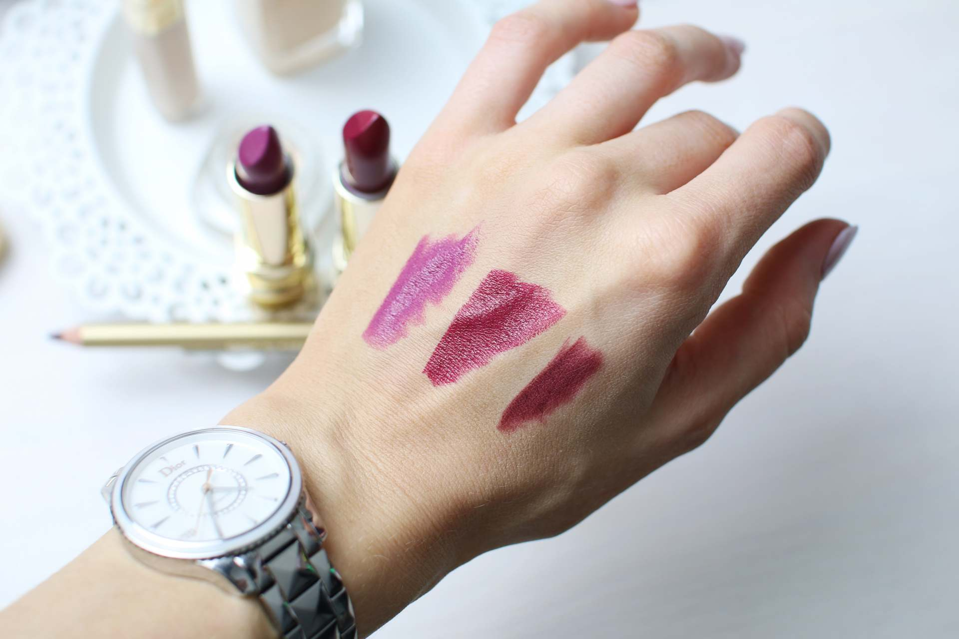 dolce and gabanna beauty lipstick swatch inthefrow