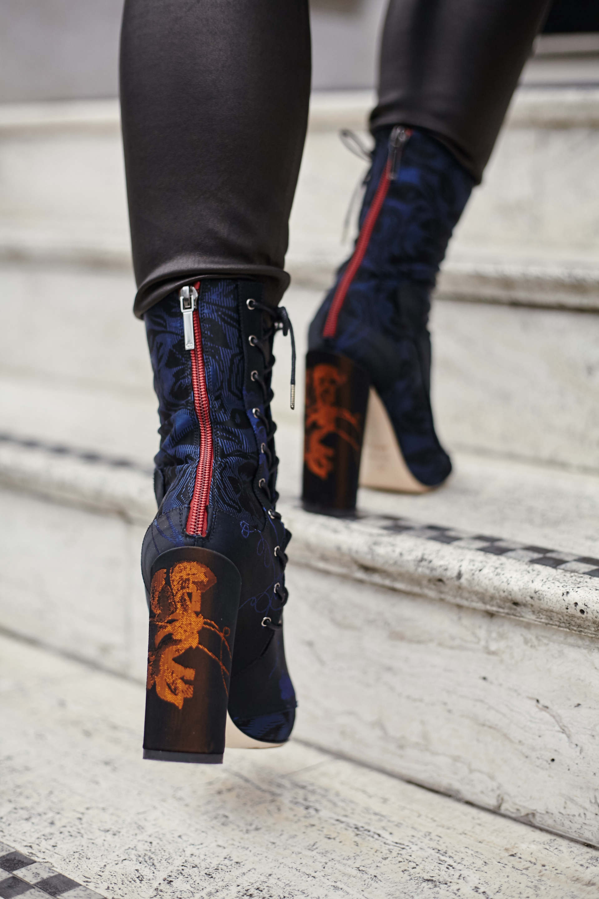 inthefrow london fashion week dior trainon boots