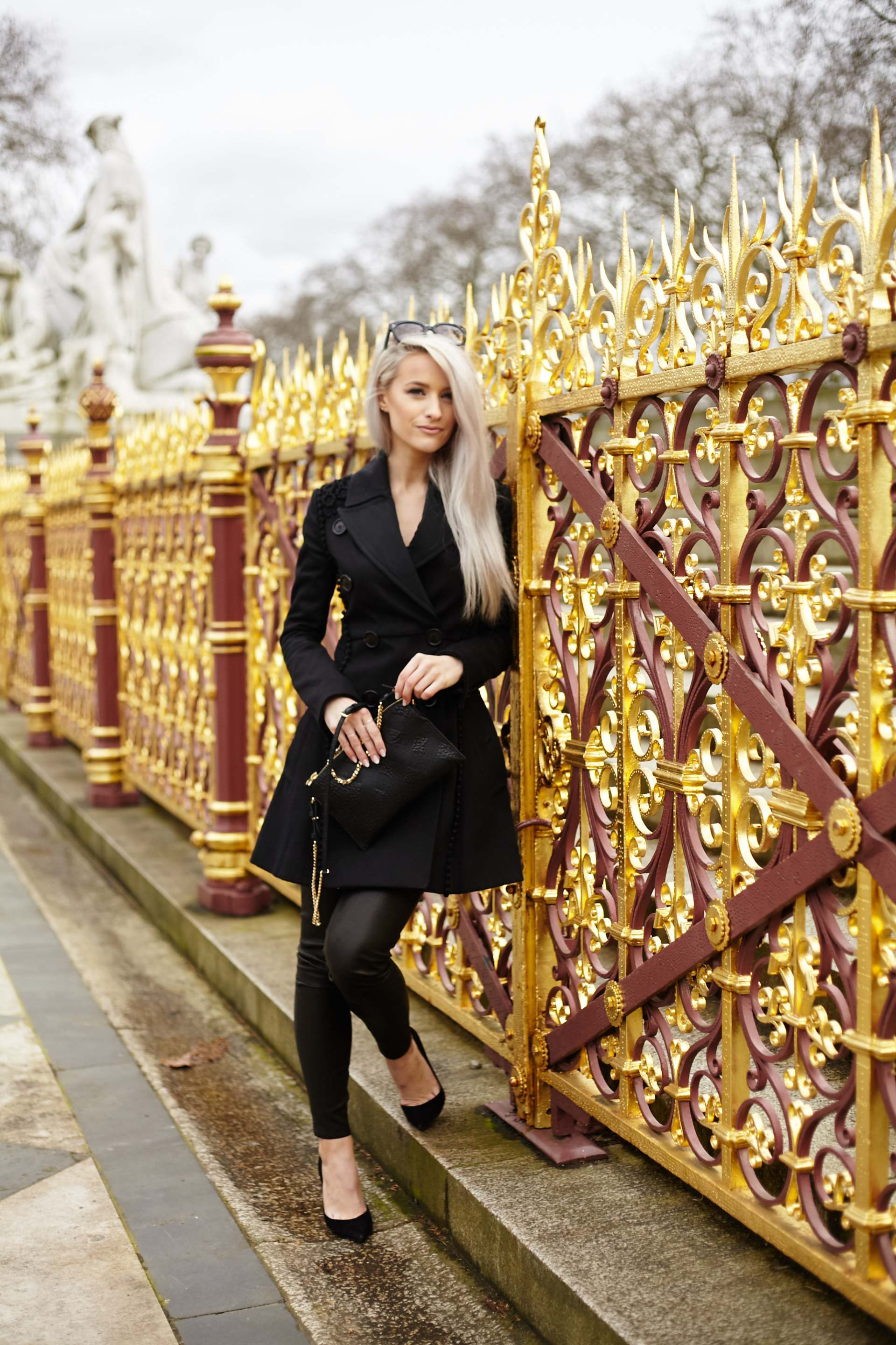 inthefrow burberry black trench coat