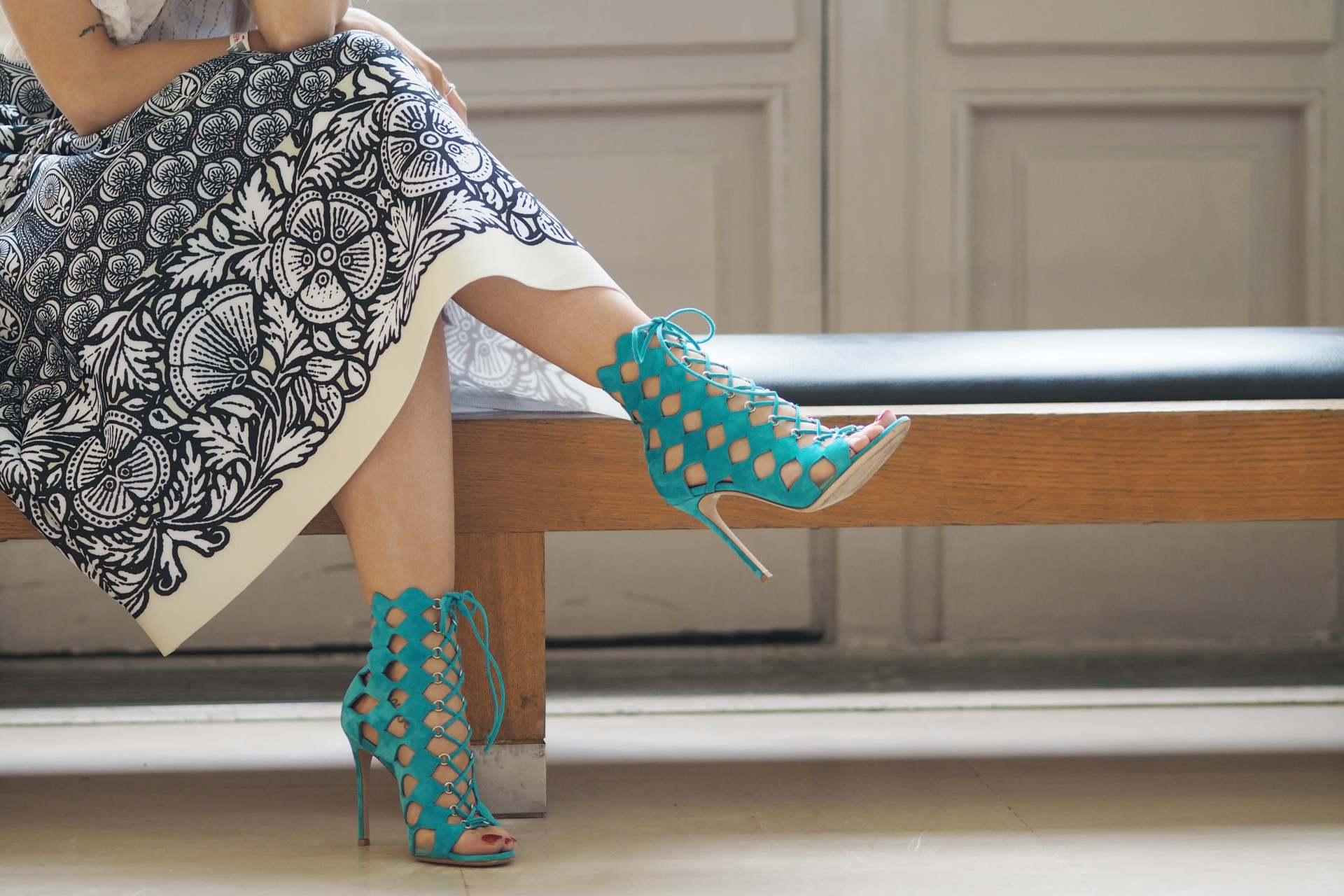 gianvito rossi caged green heels inthefrow