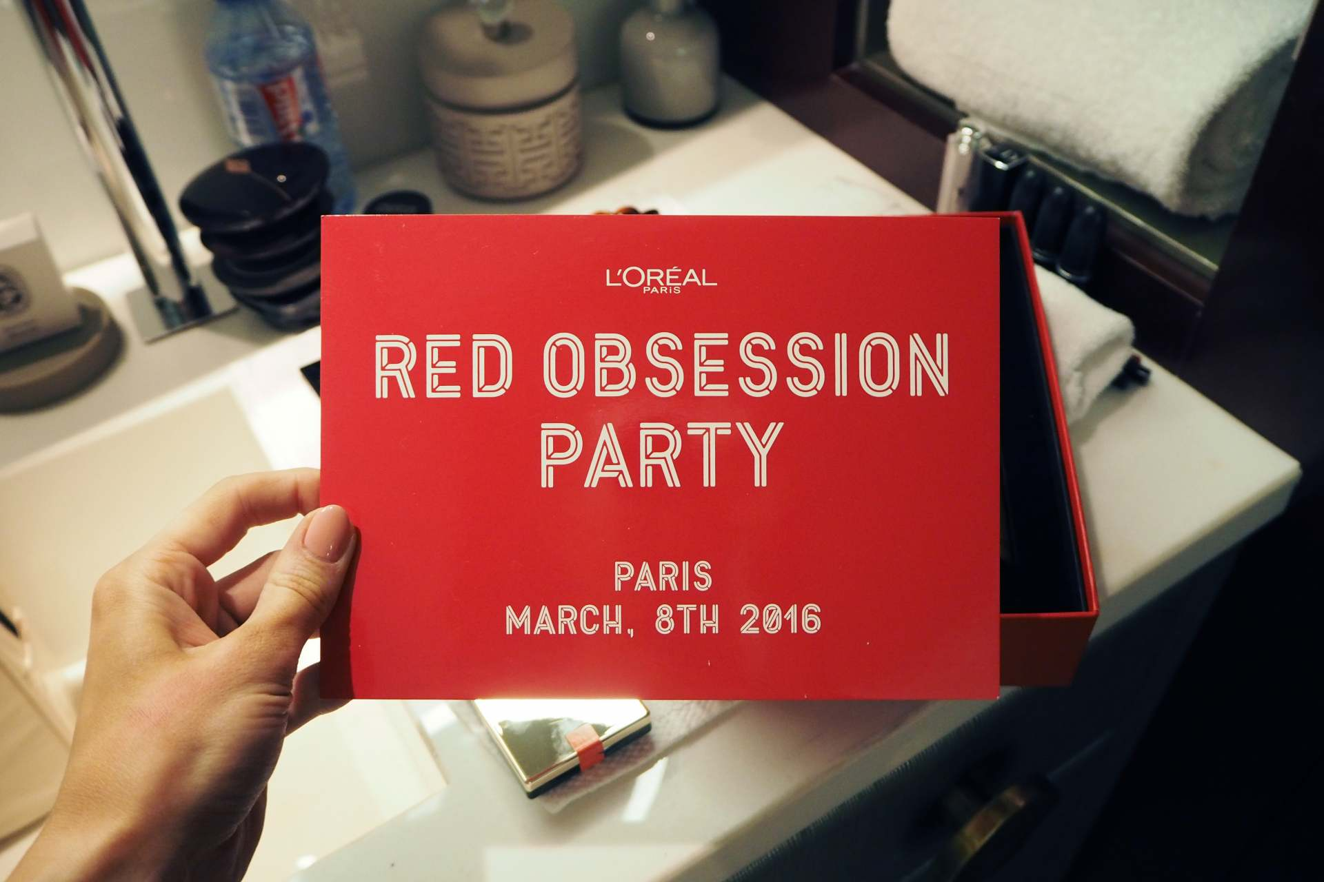 loreal red obsession party paris