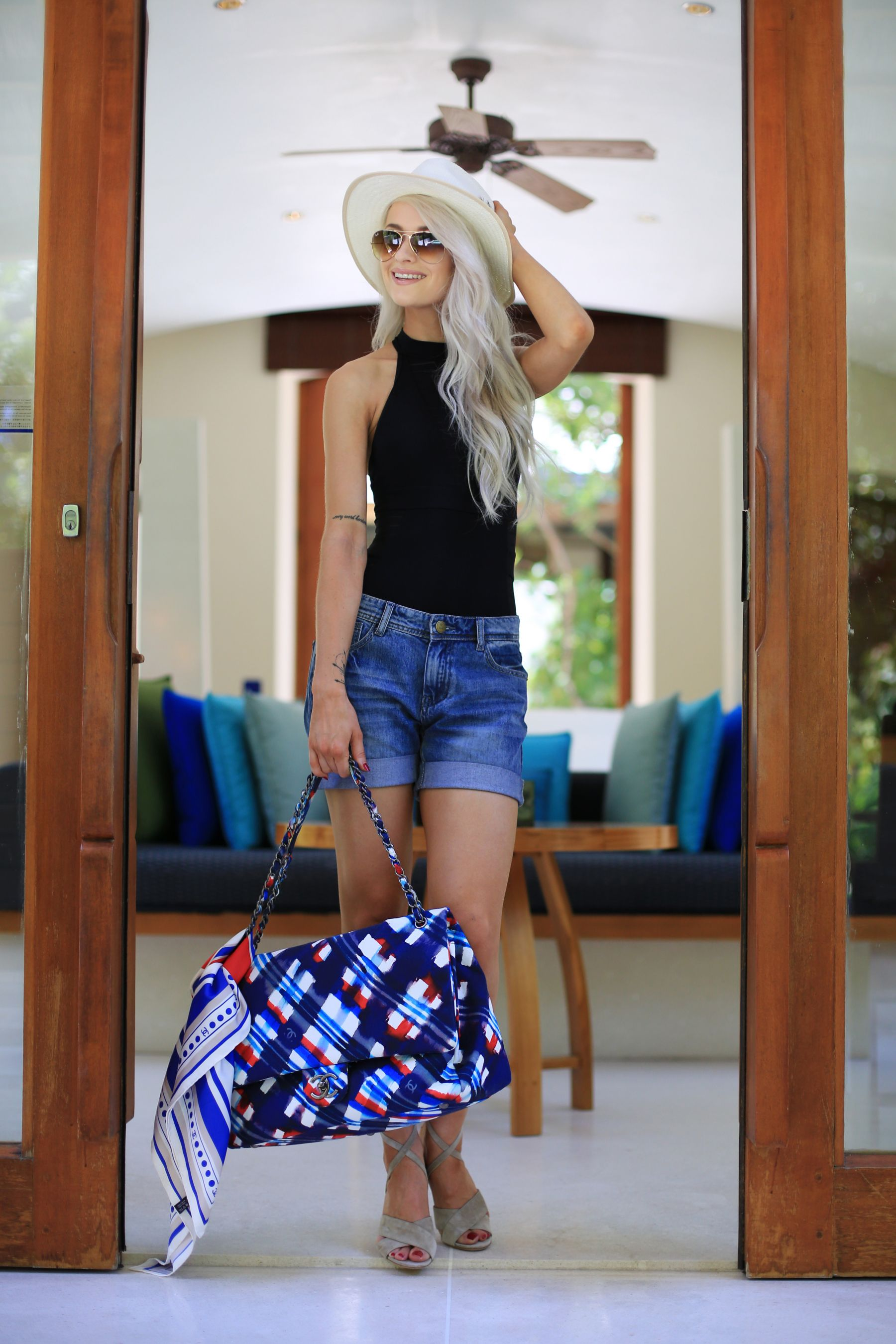 My holiday essentials / inthefrow / chanel xl luggage in canvas