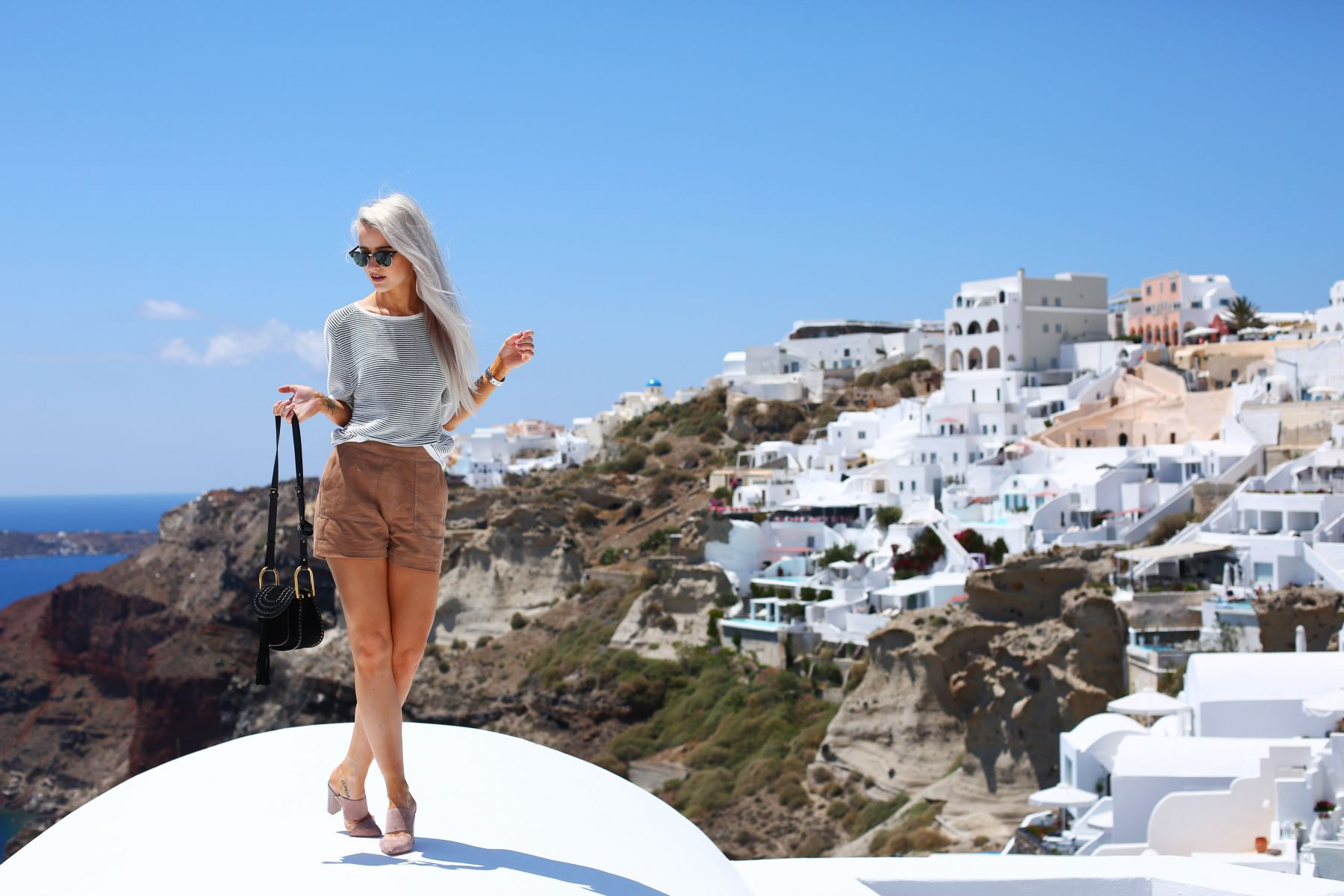 Santorini Reiss Outfits: Bikini Daytime to Evening / Inthefrow
