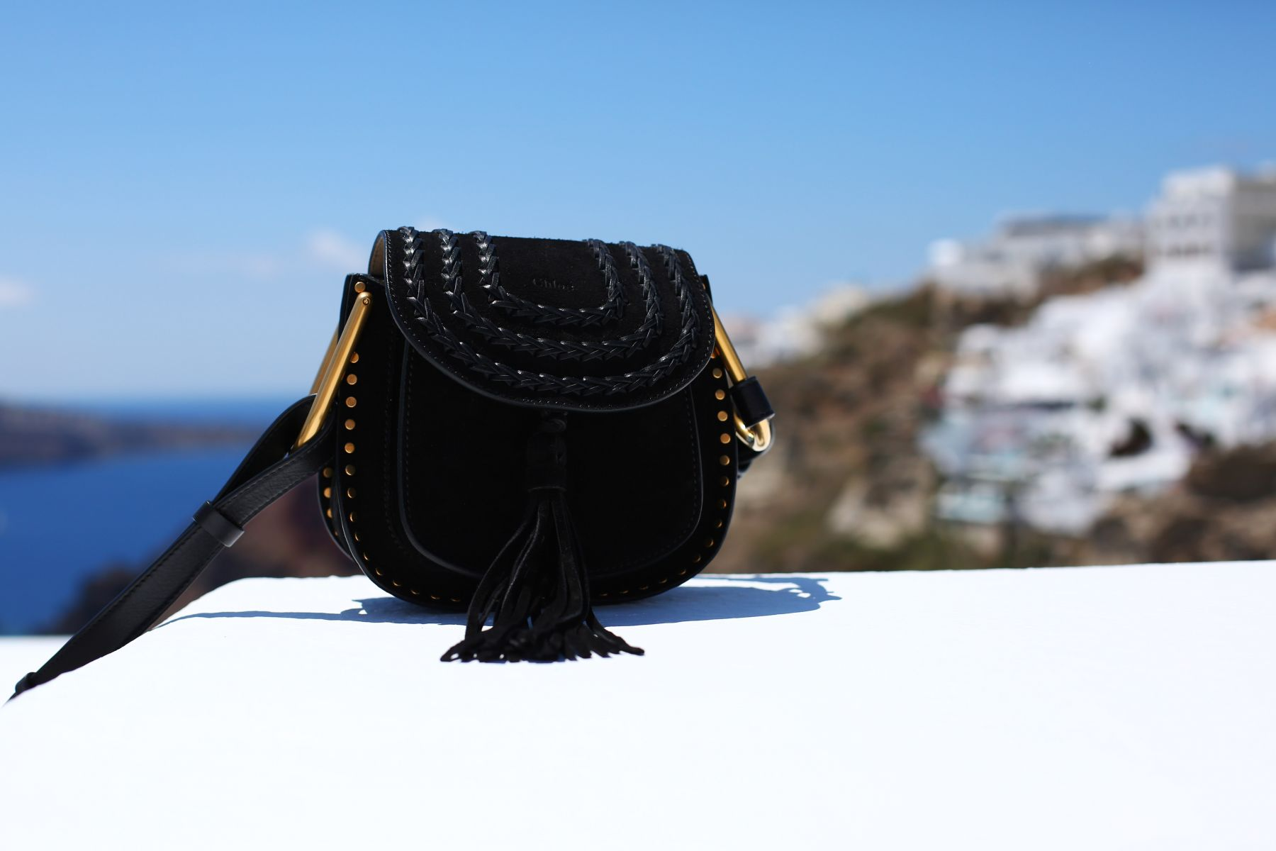 Santorini Reiss Outfits: Bikini Daytime to Evening / Inthefrow / chloe mini black hudson