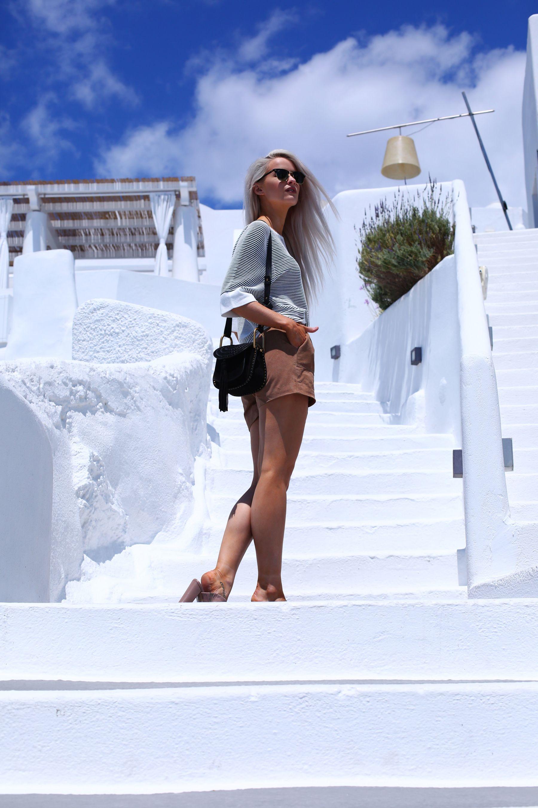 Santorini Reiss Outfits: Bikini Daytime to Evening / Inthefrow