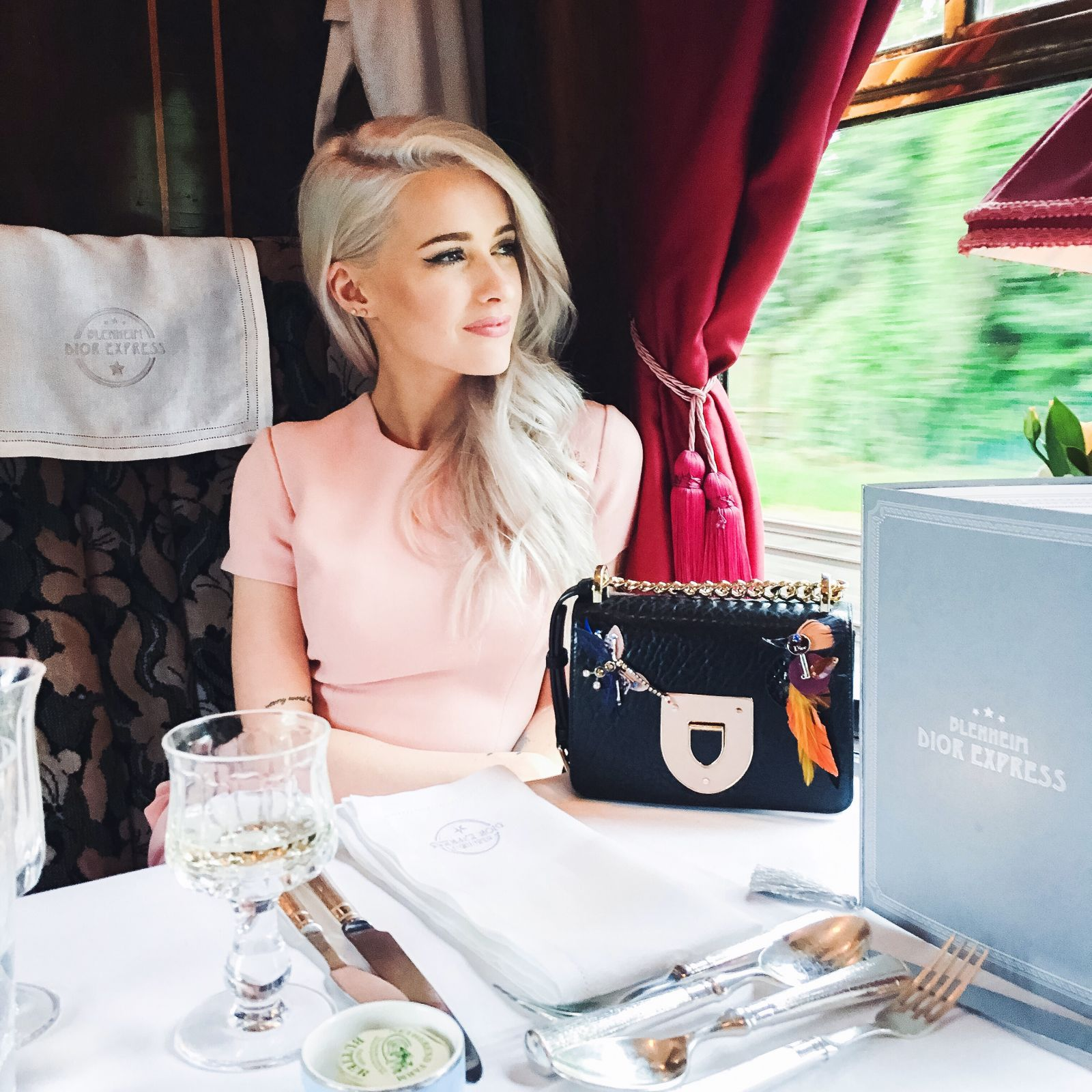 inthefrow on the Dior Express to Blenheim Palace