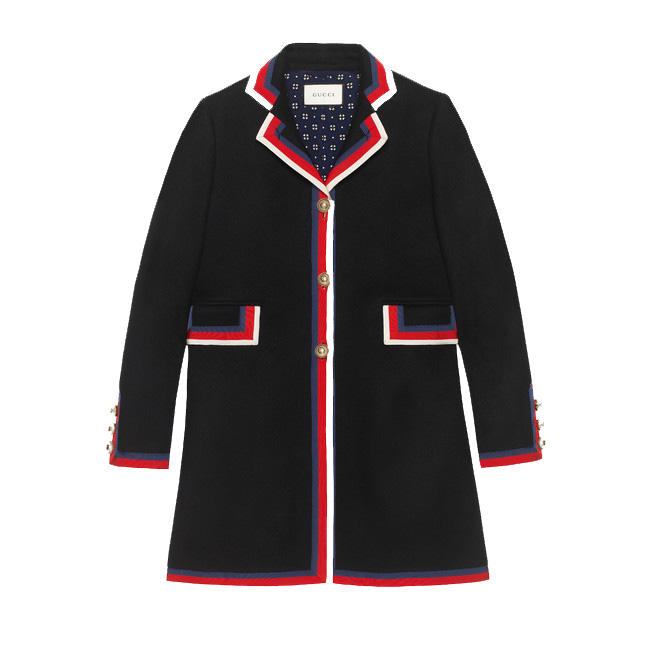 Gucci Wool Coat with Trim