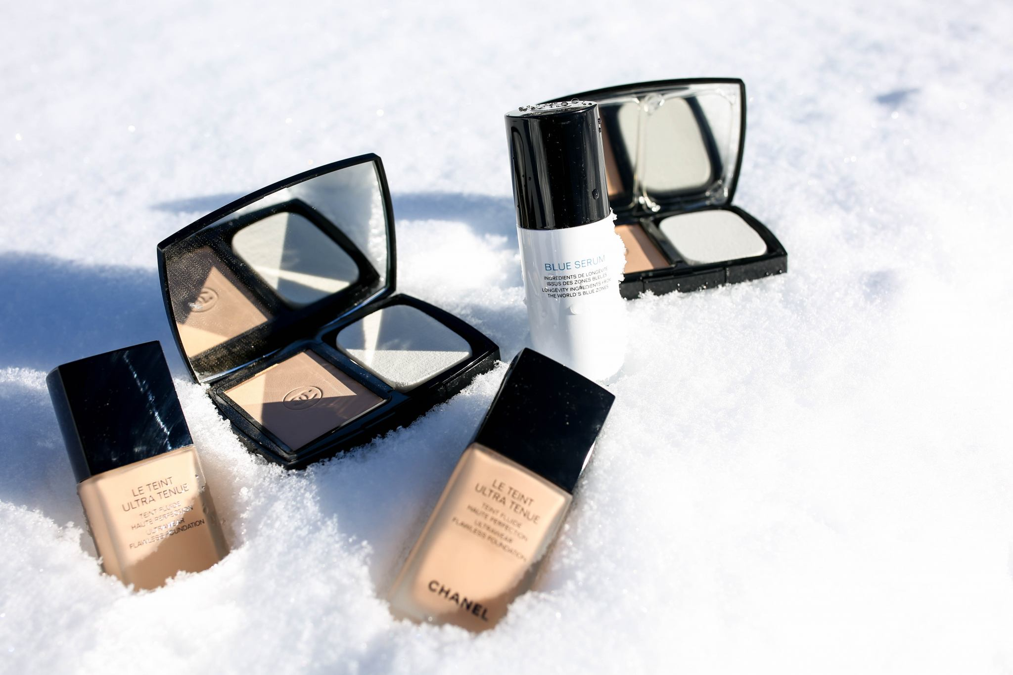 Chanel Le Teint Ultra Tenue Foundation And Blue Serum