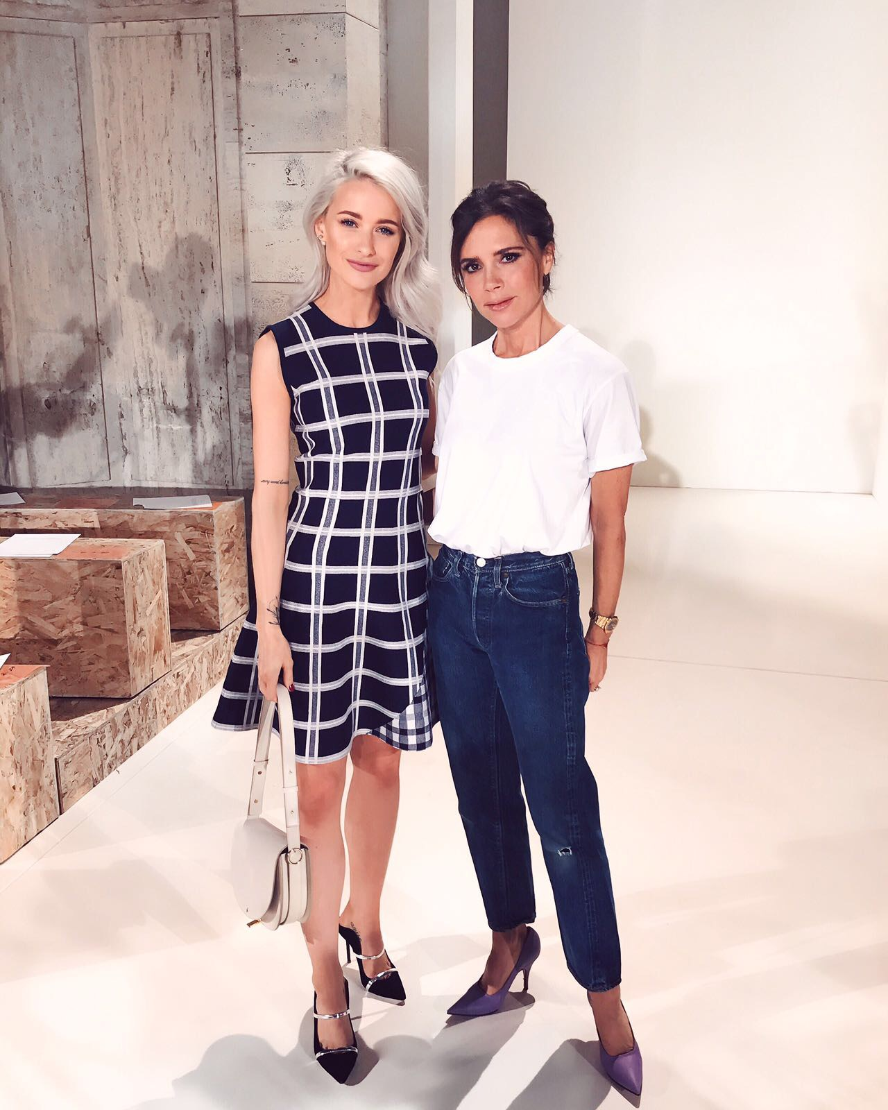 Victoria Beckham and Victoria Magrath Inthefrow for NYFW SS18