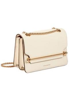 Strathberry East/West Mini Bag Cream