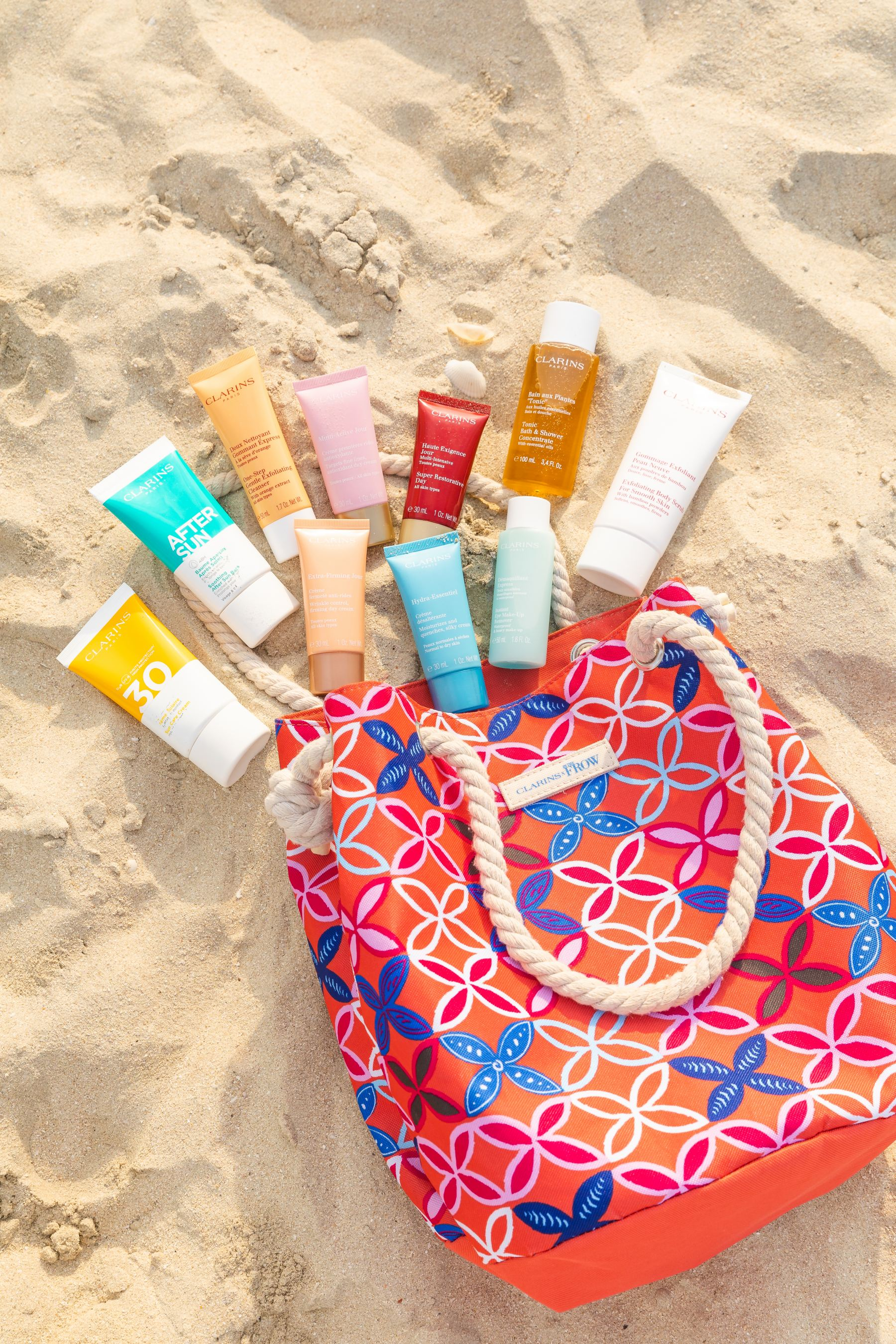 Clarins x Inthefrow Summer Tote Bag