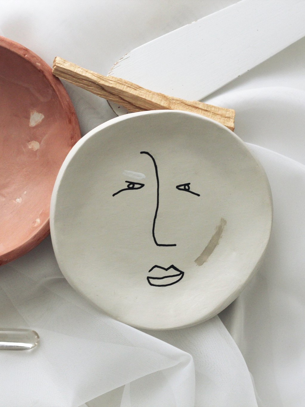 Illustrated Clay Dish