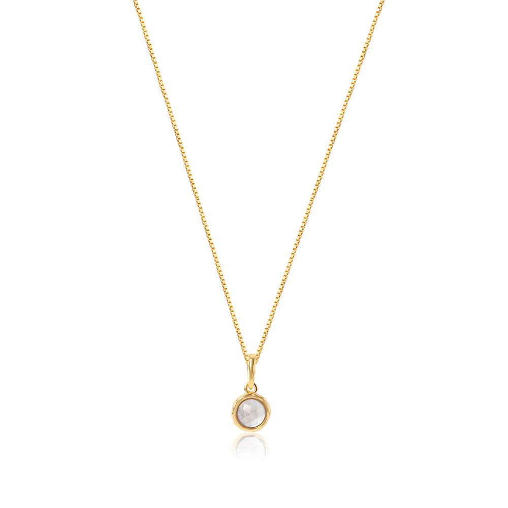 Cosmos Gemstone Necklace Gold