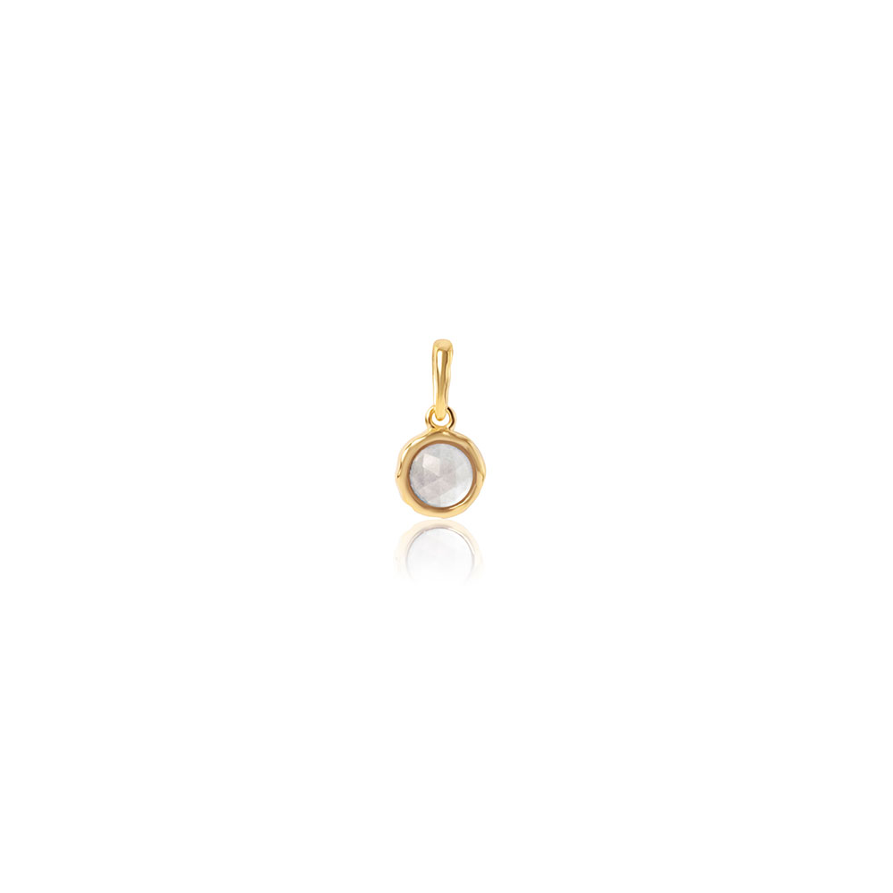 Cosmos Gemstone Pendant Gold