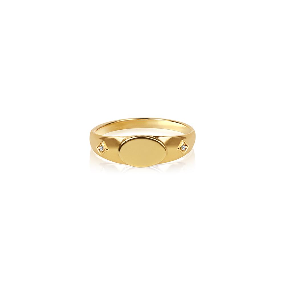 Comet Signet Ring Gold