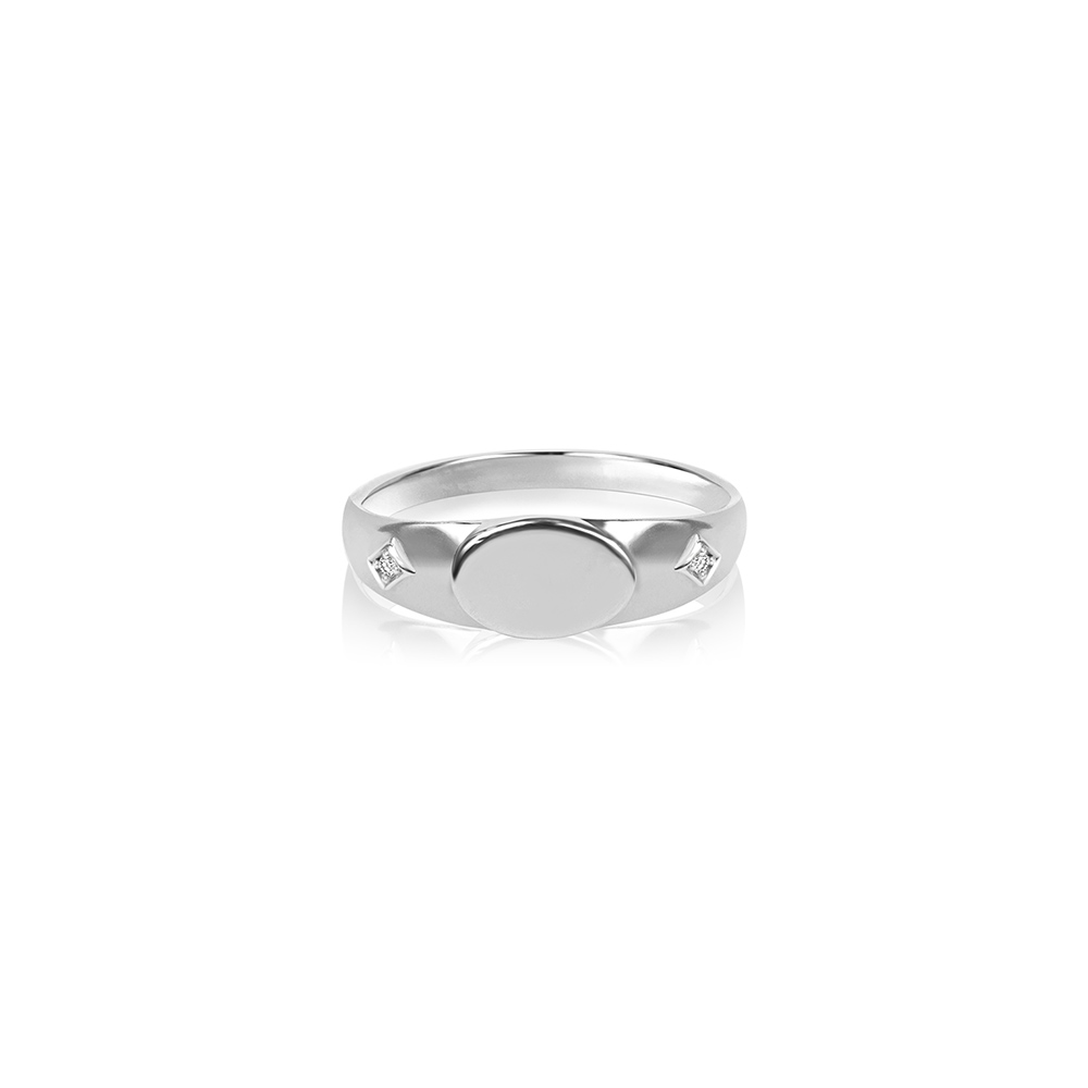 Comet Signet Ring Silver