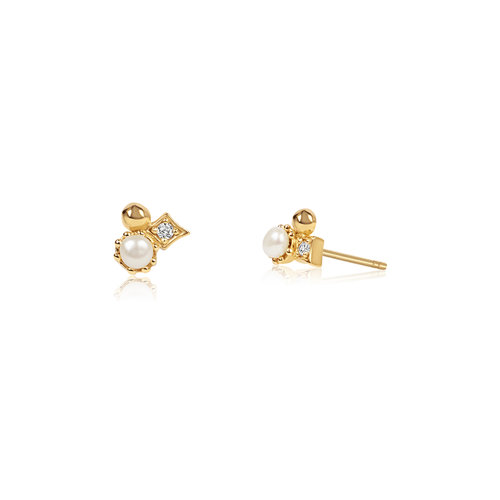 Star Cluster Ear Studs Gold