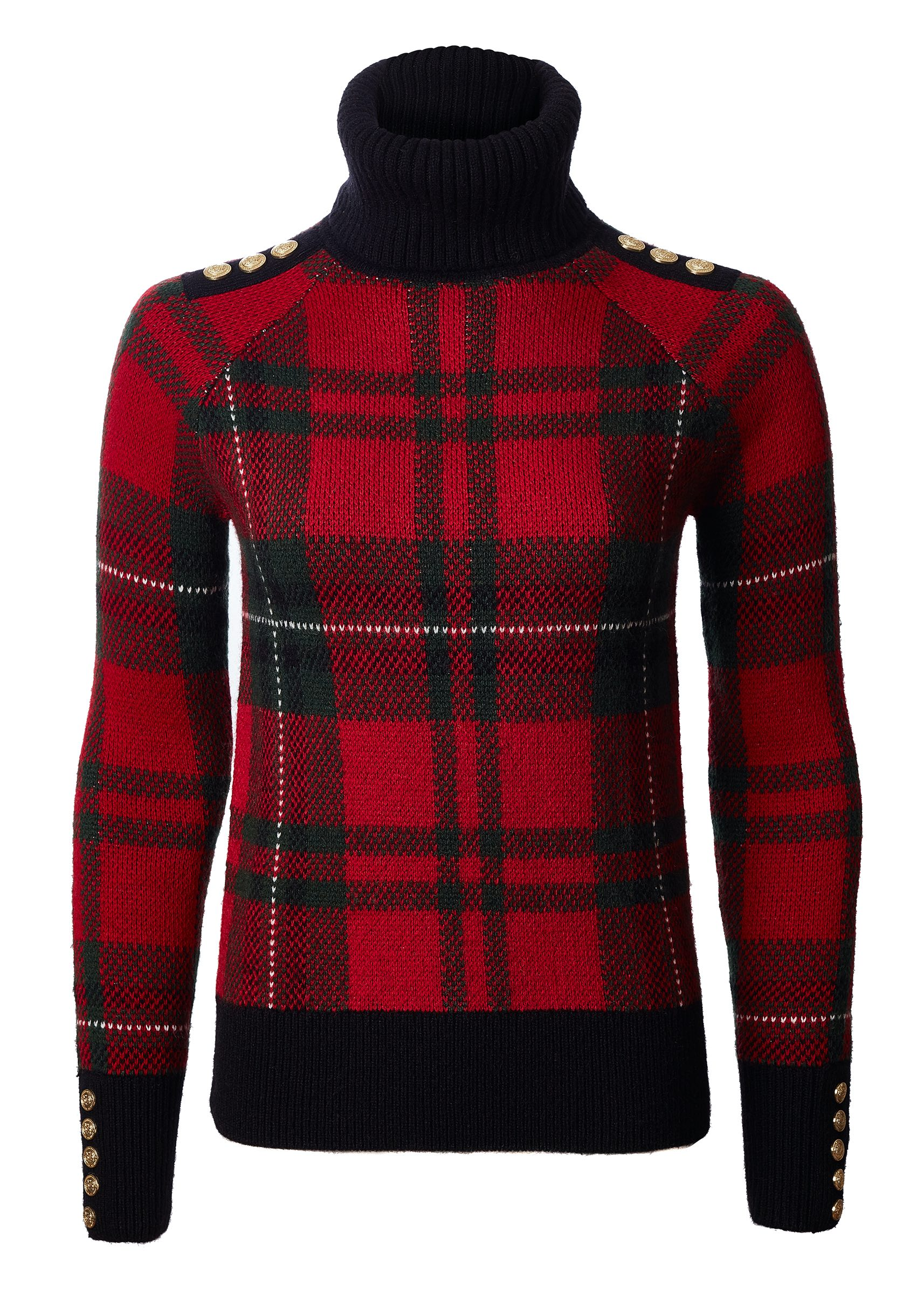 Red Tartan Knit