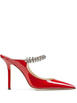 Crystal Detail Pumps Red