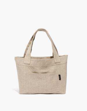 Small Reversible Linen Tote