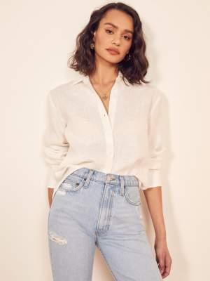 Relaxed Sheer Linen Shirt