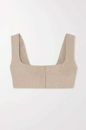 Cropped Linen Top