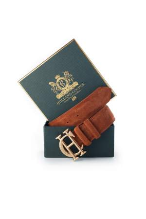 HC Suede Belt Brown