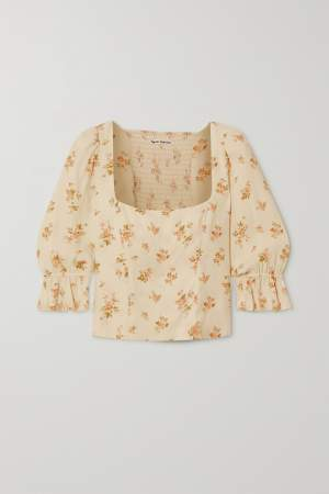 Ruffled Sleeve Crop Top