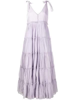 Tiered Flared Maxi Dress