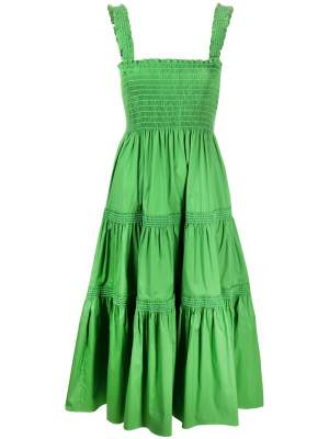 Smocked Waist Tiered Dress