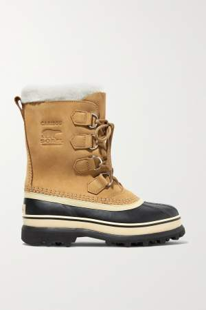 Fleece Trimmed Snow Boots
