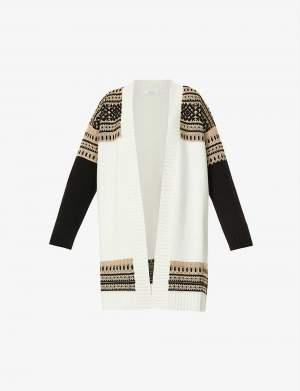 Cashmere Blend Pattern Cardigan