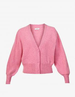 Balloon Sleeve Wool Cardigan