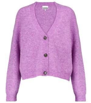 Fuzzy Wool Blend Cardigan
