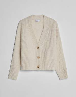 Soft Drop Sleeve Cardigan