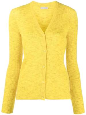 Ribbed V Neck Cardigan