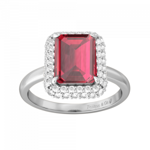 Ruby Square Cut Ring