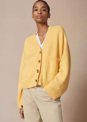 Boxy Cardigan Yellow