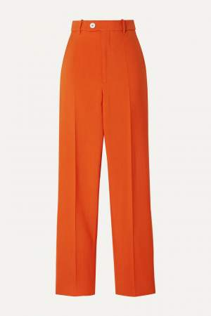 High Waist Trousers Orange