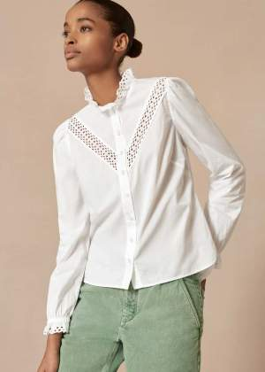 Broderie Blouse White